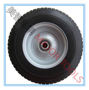 16X6.5-8 Wide Section PU Foam Tyre Solid Hand Trolley Wheel pictures & photos