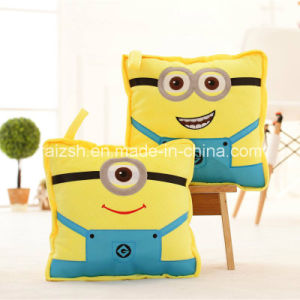 Minions Plush Pillow Automotive Multifunctional Coral Fleece Blanket pictures & photos