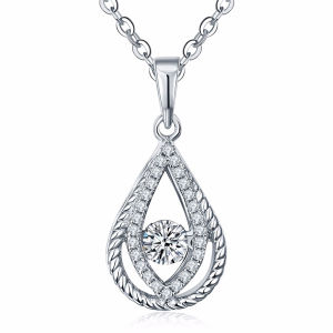 925 Silver Pendants Necklace with Dancing Diamond Jewelry pictures & photos