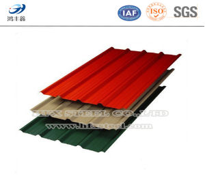 Color Coated Steel Corrugated Steel Sheet for Roof Material pictures & photos