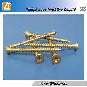DIN7505 Single/Double Head Zinc Plated Furniture for Wood Chipboard Screws pictures & photos