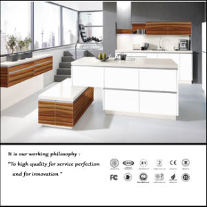 High Glossy White Colour Kitchen Cabinet (ZH6077) pictures & photos