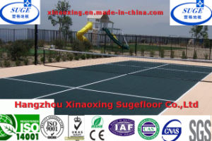 Middle School Resilient Surface Standard Size Tennis Court Flooring pictures & photos