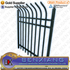 Black Power Coating Steel Fence pictures & photos