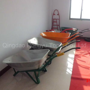 2 Wheeles Metal Tray Wheelbarrow pictures & photos