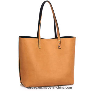 Nude Grab Shoulder Handbag PU Shopping Tote Bag pictures & photos