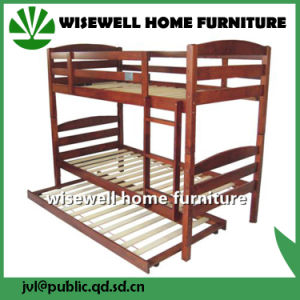 Pine Wood Bunk Bed Twin Bed pictures & photos