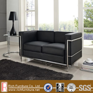 Modern Stainless Frame Leather LC Sofa for Office (LC2) pictures & photos