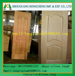 HDF Mould Door Skin with Veneer by Ash/Teak/Sapeli/Oak pictures & photos