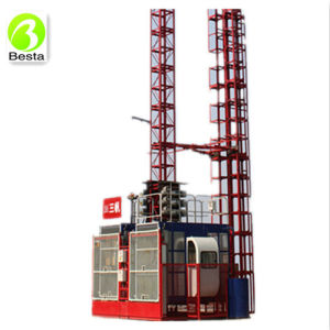 2000kg Twin Cage Construction Hoist pictures & photos