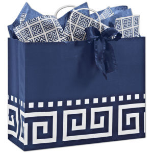 Medium Distressed Damask Paper Shopping Bag pictures & photos