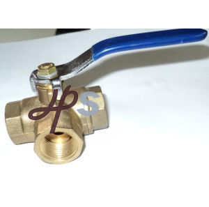 Brass 3 Way Ball Valves (T or L type) pictures & photos