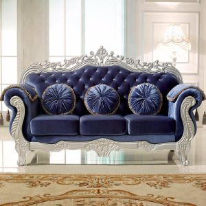Wood Fabric Sofa with Table for Living Room Furniture (929TA) pictures & photos