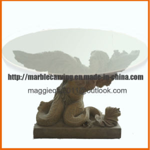 Cheap Sunset Red Granite Carving Table Angel Mt1703 pictures & photos