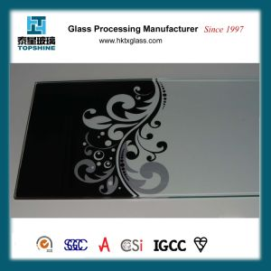 Decorative Silkscreen Printing Glass /Lacquered Glass for Hotel and Restaurants pictures & photos
