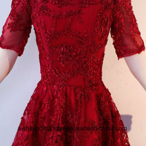 Sexy Lace Formal Evening Gown Short Sleeves pictures & photos
