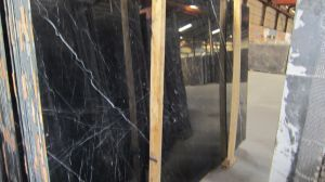 Natural Black Nero Marquina Marble Slab pictures & photos