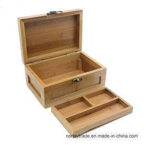 Bamboo Two-Layer Box Bamboo Storage Case pictures & photos