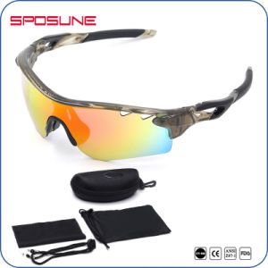 Anti Slip Dust-Proof Cycling Sunglasses with 5 Interchangeable Lenses pictures & photos