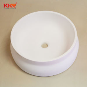 Round Solid Surface Bathroom Vanity Wash Sink (B1711243) pictures & photos
