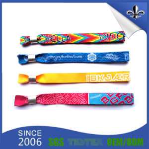 Cheap Custom Festival Fabric Woven Wristband with Free Sample pictures & photos
