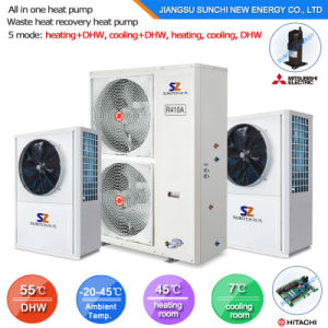 High Efficiency Save 75% Power 3.5kw 150L, 200L, 260L, Outlet 60deg. C Dhw All in One Floor Heating Heat Pump Solar Heater Connect pictures & photos
