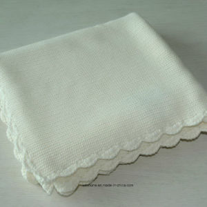 100% Cotton Knit Baby Blankets with Crochet Edge pictures & photos