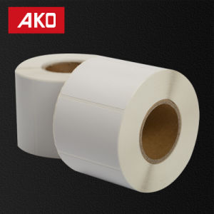 "1""*0.5"" (25.4mm*12.7mm) Thermal Coated Layer Self Adhesive Blank Sticker Thermal Paper on Roll pictures & photos"