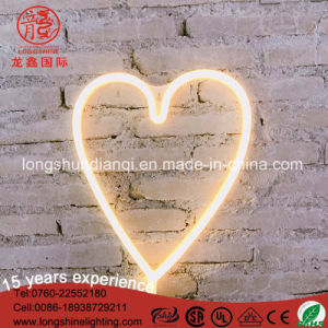 Outdoor Christmas Neon Heart Signage Wall Decoration Light pictures & photos