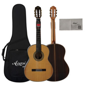 Aiersi Handcrafted Solid Top Spanish Classical Guitar pictures & photos