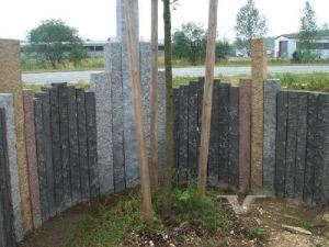 G603, Grey Granite, Pineappled Natural Splited Bushharmmered Granite Palisade Kerbstone pictures & photos