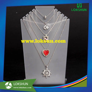 Hot Selling High Quality Jewelry Necklace Display Acrylic Holder Rack pictures & photos
