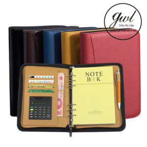2018 Personalized Business Leather File Folder and Padfolio Portfolio Binder for Gift pictures & photos