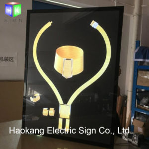 Slim LED Backlit Light Box for Jewellery Advertising Picture Frame Display Sign Board pictures & photos