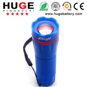 Blue Mini LED Flashlight with 3 AAA Size Battery for Outdoor, Camping, pictures & photos