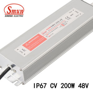 Smun Smv-200-48 200W 48VDC 4A Constant Voltage LED Power Supply pictures & photos