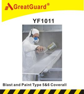Greatguard Spray and Blasting Microporous Type 5&6 Coverall pictures & photos