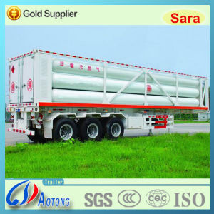 3 Axles CNG Gas Tube Bundle Container Semi Truck Trailer pictures & photos