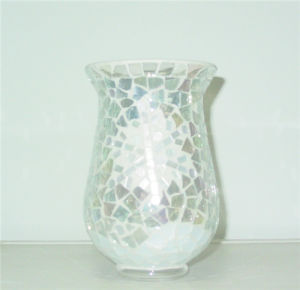 Wedding Elegant Purple Mosaic Glass Candle Jar pictures & photos