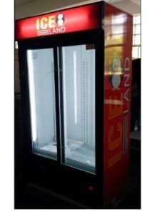 Double Glass Door Commercial Freezer Display pictures & photos