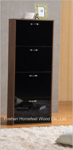 Modern 4 Drawers High Gloss Wooden Shoe Cabinet (XE41) pictures & photos