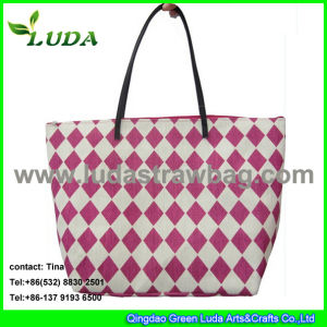 Luda Printed Paper Straw Bag for Lady