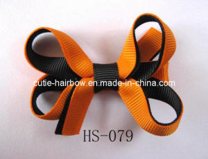 Halloween Hair Bows, Baby Bows, Bow Headbands, Holiday Gift (HS-079)