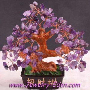 Amethyst Crystal Tree Gem Beads Inviting Wealth (PN016)