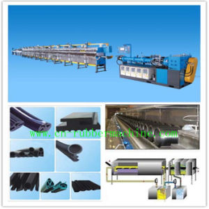 Rubber Extruder with Automatic Thermostat Circulating Vulcanizing Box pictures & photos