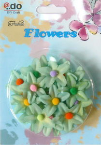 3D Fabric Flowers Stickers (FFR-09)