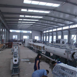 PE Extruder Solid Wall Pipe Extrusion Line pictures & photos