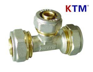 Brass Pipe Fitting - Reducing Tee of Pex-Al-Pex Pipe (aluminium plastic pipe) pictures & photos