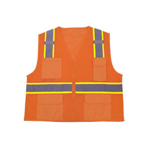 100% Polyester Mesh Safety Reflective Vest with Solid Pocket