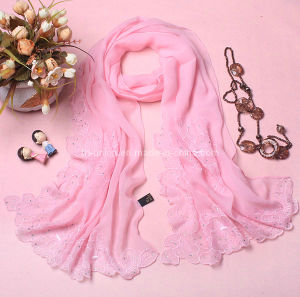Fashion Women 100% Silk Scarf
